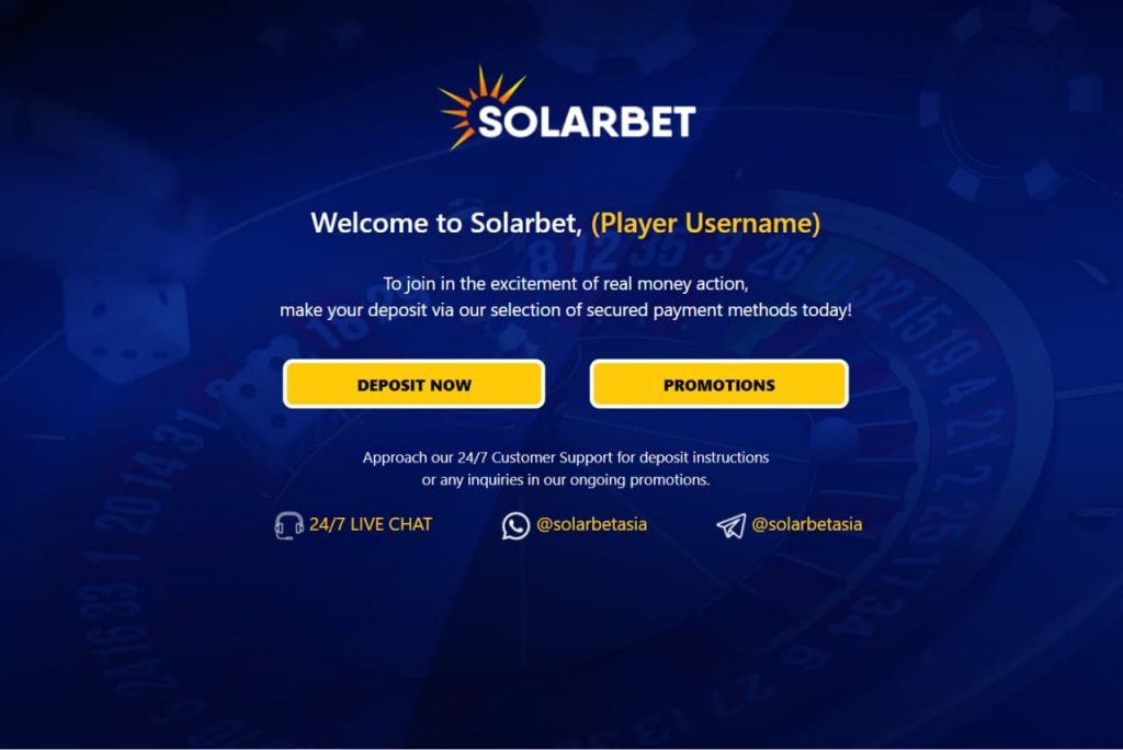 Solarbet Thank You Page